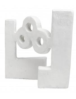 Agua Escultura Óxido Blanco