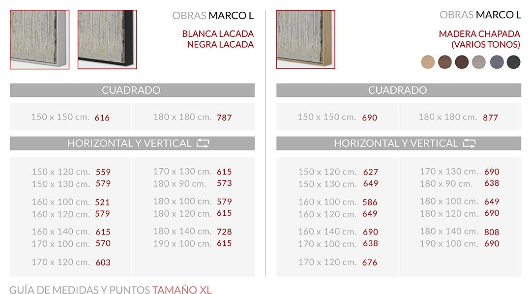 Medidas Marco L XL